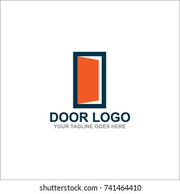 Door Logo Design Vector Illustration