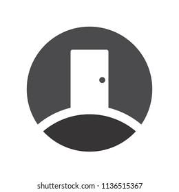 Door logo. Home icon. Open and lock vector eps 08.