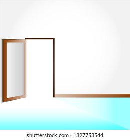 Door opening with eps.10 vector background