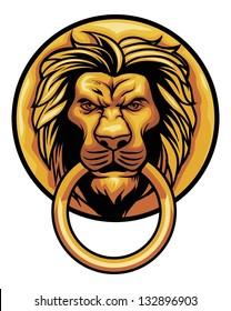 door ornament lion head
