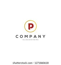 door of P letter logo