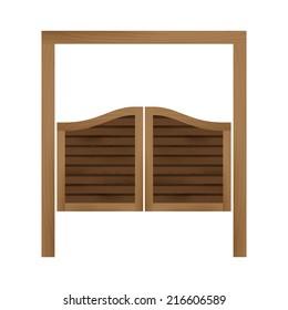 Door saloon. Vector