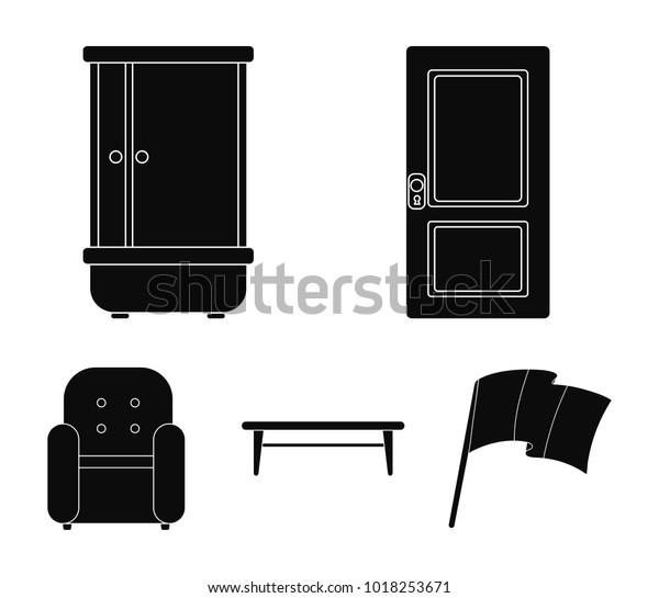 Amazing Door Shower Coffee Table Armchairfurniture Set Stock Vector Cjindustries Chair Design For Home Cjindustriesco