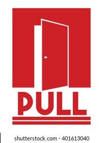 Door sign - pull