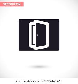 Door vector icon , lorem ipsum Flat design