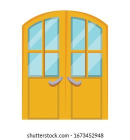 Door vector icon.Cartoon vector icon isolated on white background door .