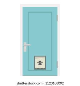 Door vector. door for pet vector. free space for text. wallpaper. background.