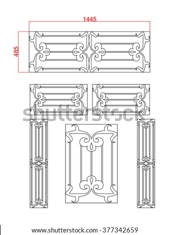 Door Window Vector Frame Steel Work Stock Vector (Royalty Free ...