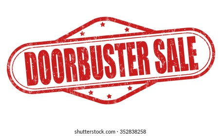 Doorbuster sale grunge rubber stamp on white background, vector illustration