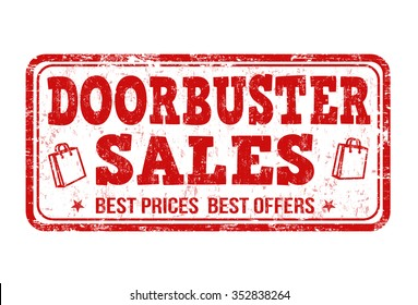 Doorbuster sale grunge rubber st& on white background vector illustration  sc 1 st  Shutterstock & Doorbuster Images Stock Photos u0026 Vectors | Shutterstock