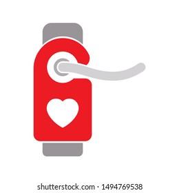 door-hanger love icon. flat illustration of door-hanger love - vector icon. door-hanger love sign symbol