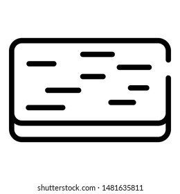 Doormat icon. Outline doormat vector icon for web design isolated on white background