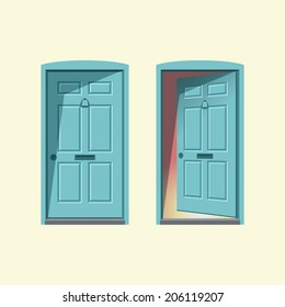 Doors, Closed And Open.