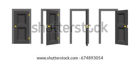 Doors set Front view