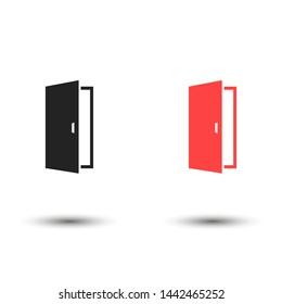 the doors vector eps 10 icon , Lorem ipsum flat design