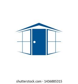 doors and windows vector logo design