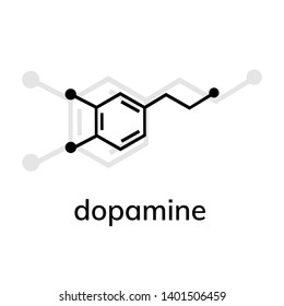 Dopamine vector icon with shadow on white background