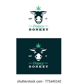 Dopey Donkey Logo Illustration