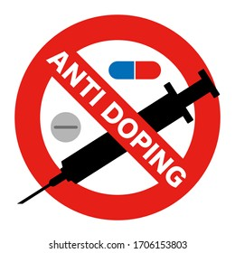 Doping prohibition mark. Anti-doping mark.