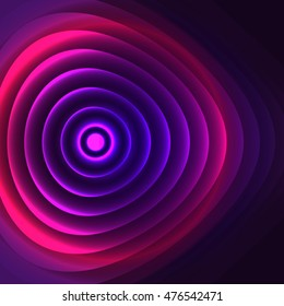 The Doppler effect in the optical range. Colored abstract background