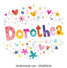 Dorothea girls name decorative lettering type design