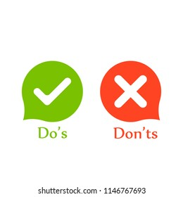 Do's don'ts signs
