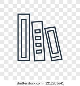 Dossier concept vector linear icon isolated on transparent background, Dossier concept transparency concept in outline style