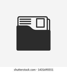 Dossier folder icon. New trendy dossier folder symbol vector illustration.