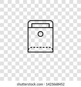dossier icon from  collection for mobile concept and web apps icon. Transparent outline, thin line dossier icon for website design and mobile, app development