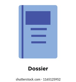 Dossier icon vector isolated on white background, Dossier transparent sign , colorful equipment symbols