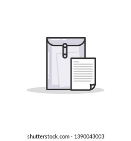 Dossier vector icon business paper