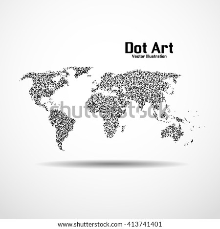Dot art design world map icon stock vector royalty free 413741401 dot art design of the world map icon logo gumiabroncs Image collections