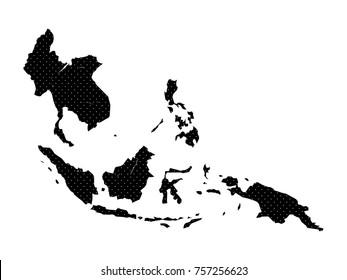Dot Asean map background.AEC Asean  Community map..All elements are separated Abstract white background. Vector illustration EPS 10 .