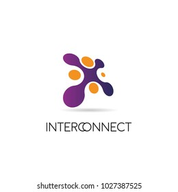 Dot Connected Logo Sign Symbol Icon