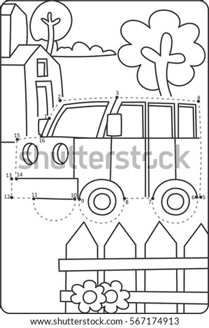 dot dot drawing car learning drawing stock vector royalty free