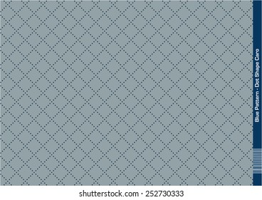 Dot Geometric Pattern (Blue) Composition of Dots creating an endless Pattern of repeating geometric Shapes (caro)