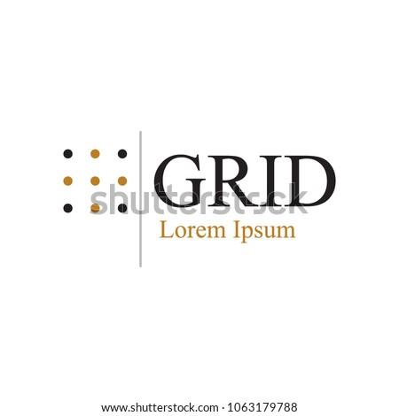 dot grid logo template stock vector royalty free 1063179788
