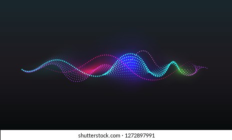 dot light spiral sound wave vector background