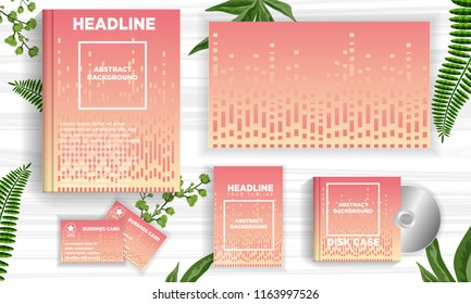 dot line abstract background template ready for printing book cover, business card, disc album cover, flyer. vector illustration download file in eps10