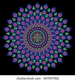 Dot painting meets mandalas 11. Aboriginal style of dot painting and power of mandala