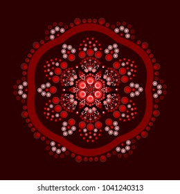 Dot painting meets mandalas 18-1. Aboriginal style of dot painting and power of mandala