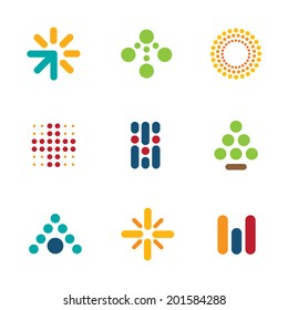 Dot set symbol arrow success progress icon help logo vector