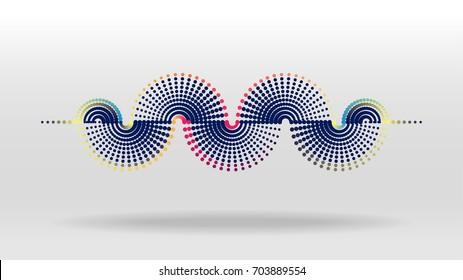 Dot sound wave
