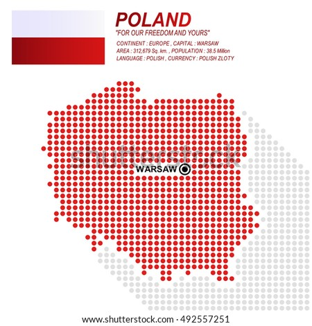 Dot Style Poland Map Flag On Stock Vector (Royalty Free) 492557251 ...