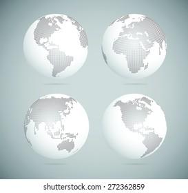 Dot World globes