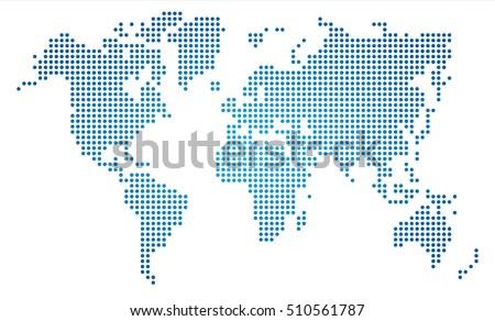Dot World Map.Dot World Map Stock Vector Royalty Free 510561787 Shutterstock