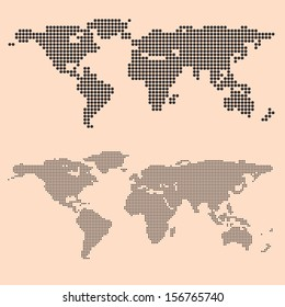 dot world map , vector illustration