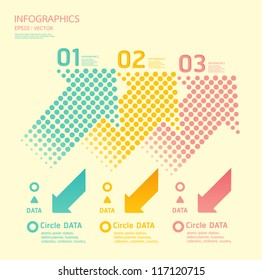 dots arrows soft color / can be used for infographics / numbered banners / graphic or website layout vector