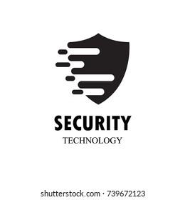 dots art design of the shield icon logo.