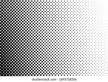 Dots Background. Black and White Grunge Pattern. Distressed Backdrop. Abstract Monochrome Overlay. Vector illustration
